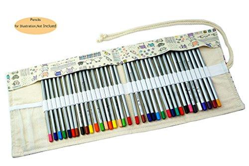 CROOGO Neuer Künstler Studenten Bleistifte Bleistift Kasten hält 36 Bleistifte Schöne Tiere (Bleistifte NICHT enthalten)