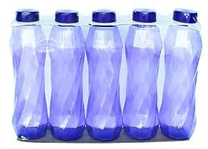 Princeware Plastic Pet Bottles Set, 900ml/78mm, Set of 5, Purple