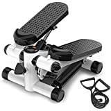 ULTIMAX - Mini Stepper Abs Toner Workout without Electronic Display Home Exercise Equipment with Resistance Bands (with Rope)