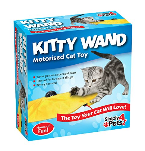 Simply 4 Pets Kitty Wand Motorised Undercover Yellow Skirt Cat Toy 1