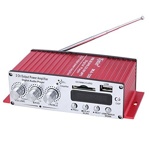 Kinter MA 120 2 canali Mini Digital lettore audio USB / SD / MP3 / amplificatore FM / ingresso lettore di schede SD con telecomando trasferimento digitale stazione radio uscita 2 canali auto ad alta fedeltà moto computer amplificatore audio