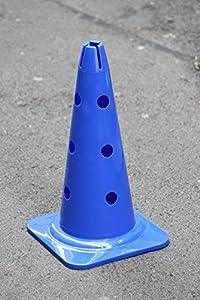 agility sport pour chiens - cône avec trous, 40 cm, bleu - 1x MZK40b