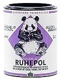 Berlin Organics RUHEPOL - Superfood - Trinkpulvermischung mit Kakao, Kokosblütenzucker, Lucumapulver und Zimt - 100% Bio & Vegan 0% Zusätze - 100g