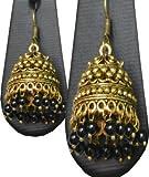 #2: Buy Golden Color Designed Jumka Earring Online (German Silver)
