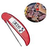Yukun Termómetro de cocina Alimentos Cocina Aceite Temperatura Barbacoa Alimentos Termómetro Plegable a prueba de polvo Sonda Barbacoa, Azul