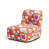 WJH Sofá de los niños, Mini sofá Taburete, Muebles para Habitación Juvenil Infantil Sala de Estar Vivero Cómodo Madera-B 48x51x45cm(19x20x18inch)