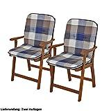 Conjunto de 2 lumbar cojines para sillas de jardín amortiguar cuadros de poliéster relleno de algodón