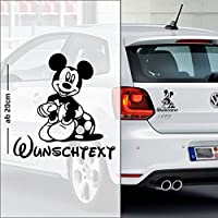 Micky Maus #6 | Baby - Name On Board | Wunschtext | Auto Aufkleber | Minnie Maus | Baby On Board