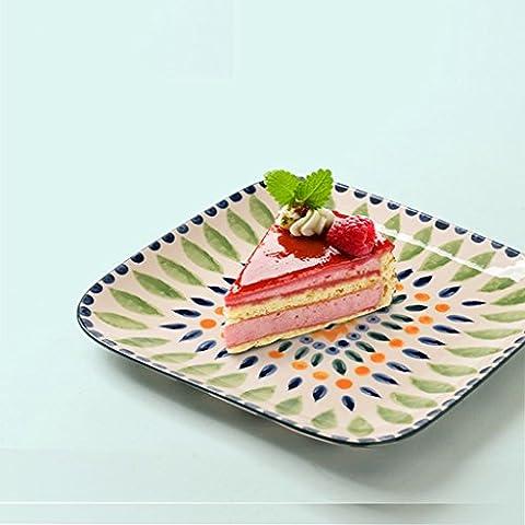 Articoli per la tavola in ceramica piatto della mano - dipinta piatto di frutta insalata di dessert Piatti Moda piatti occidentali tavola