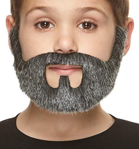 ende Kleiner On Bail Fälschen Bart für Kinder Salz und Pfeffer Farbe ()