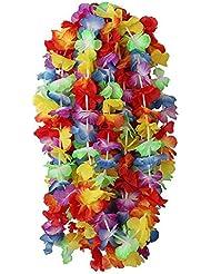 50 x Hawaiian guirnaldas de flores tropicales traje de fiesta relacionada collar de la muchacha funeral