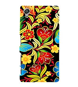 Floral Painting Art 3D Hard Polycarbonate Designer Back Case Cover for Sony Xperia X :: Sony Xperia X Dual