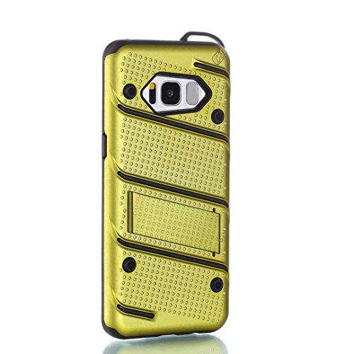 EKINHUI Case Cover Dual Layer Hybrid Armor Schutzhülle Shockproof Stoßfänger mit Kickstand für Samsung Galaxy S8 ( Color : Rosegold ) Green