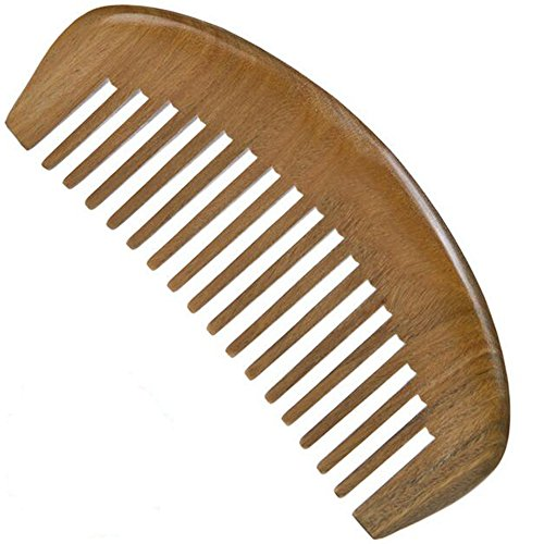 Dent large peigne en bois Tooth Vert moyen Sandalwood Pocket Peigne Petit Peigne Hair Brush