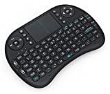 #3: Inditradition 2.4GHz Mini Wireless Keyboard with Touchpad Mouse, LED Backlit, Rechargable Li-ion Battery (Black)