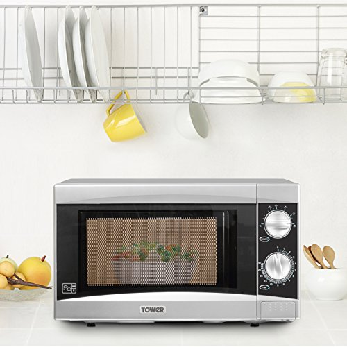 Tower T24001 Manual Microwave with Timer, 20 L – Silver
