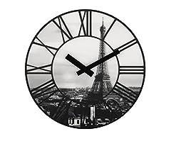 Idea Regalo - NEXTIME La Ville - Orologio olografico da muro, black