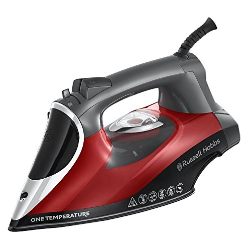 Russell Hobbs 25090 Red/Grey One Temperature Iron Best Price and Cheapest