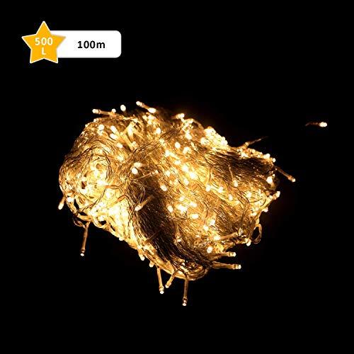 GlobaLink® 100M 500 Lichterkette [Hohe Qualität] 8 Modelle LED-Lämpchen Kupferdraht für Weihnachten,Wohnung,Tanzen,Party,Hochzeit,Ihnen&Außen