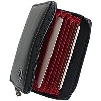 Mala Leather Collezione ORIGIN. Porta carte di credito a soffietto in pelle con protezione RFID 552_5