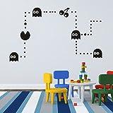 """mairgwall Nursery Decor Pacman para bebé dormitorio Stciker juega de pared mural, vinilo, Custom, 34""""h x58""""w"""