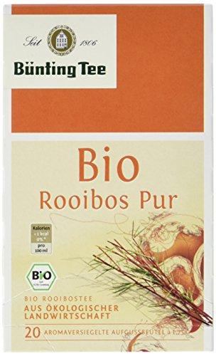 Bünting Tee Bio Rooibos 20 x 1.75g Beutel, 3er Pack (3 x 35 g)