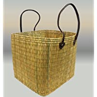 Large Key Stone Water Reed Storage / Laundry Basket- Long Leather Handles- W40 H40 D40 - SUMMER OFFER. by MAISON ANDALUZ & Amazon.co.uk: MAISON ANDALUZ - Shopping Baskets / Shopping Bags ... azcodes.com
