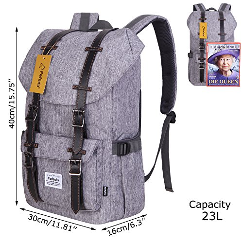 Imagen de fafada unisex  nylon causal hombres la sara  saco de viaje la bolsa de ordenador 23l gris alternativa