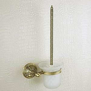 LOCO porte-brosse WC, laiton, bronze vénitien