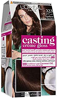 L'Oréal Casting Creme Gloss, 323 Darkest Warm Brown, 180 ml