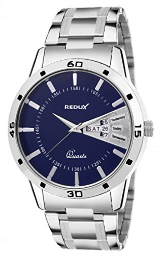 Redux Analog Blue Dial Day and Date Watch for Men\'s RWS0048S