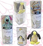Fabric Animals Bang On The Door Puppy Moneybox Gift Set