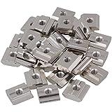 BQLZR plata de acero al carbono Drop en T deslizante tuercas para ranura de extrusión de perfil de aluminio de la serie estándar europeo 30Pack de 30