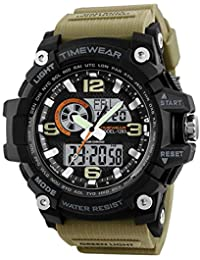 Timewear Military Series Analogue Digital Black Dial Watch For Men & Boys - 12121283