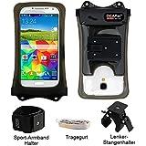 Mobile Phone Bicycle Mount Steering Wheel Mount + Large Mobile Phone Case Waterproof