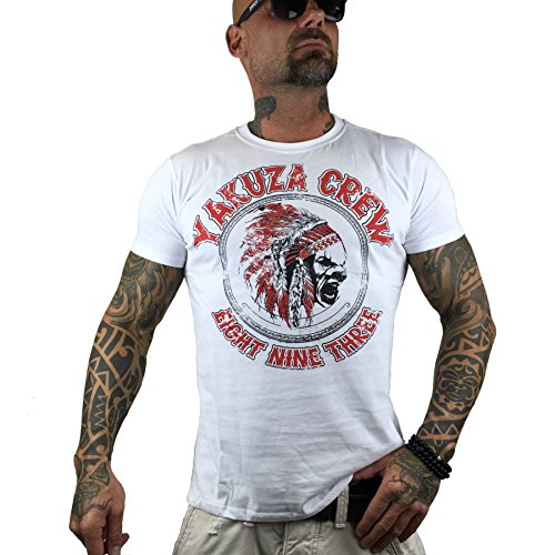 Yakuza Original Herren Indian T-Shirt Weiß