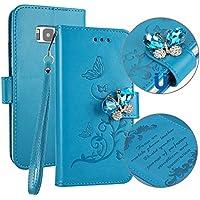 Galaxy S8 Hülle,SainCat Retro Schön 3D Schmetterling Blumen Muster Ledertasche Handyhülle Brieftasche im BookStyle... preisvergleich bei billige-tabletten.eu