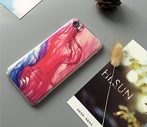 Coque iPhone 7 Plus Housse étui-Case Transparent Liquid Crystal Gouache Art en TPU Silicone Clair,Protection Ultra Mince Premium,Coque Prime pour iPhone 7 Plus-style 6 8