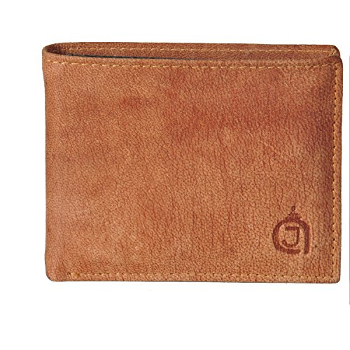 AzraJamil Texas Finish Bi-Fold Genuine Leather Hand Crafted Card,Cash Holder (Wallet Tumi Passport)