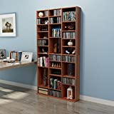 Dakea Panana Bücherregal Wandregal CD Regal Holz Regal mit verstellbar Fach 196 x 102 x 24cm Braun