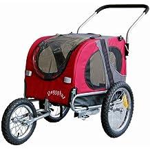 Doggyhut® Medium Hundeanhänger und Jogger Hundefahrradanhänger Hundetransporter ROT 10201-01