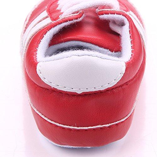 YICHUN, Jungen Babyschuhe - Lauflernschuhe  dunkelblau Longueur de Semelle:11CM rot