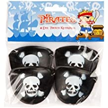 Pirate Eyepatch Keyrings Pack of 4