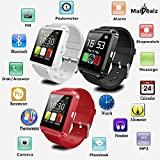 U8 Smartwatch MaiDealz Smart Watch Bluetooth 4.0 Silicone Wristband for Android Smartphones Samsung S5 / S6 / S7 / Note HTC Huawei Apple Iphone Black