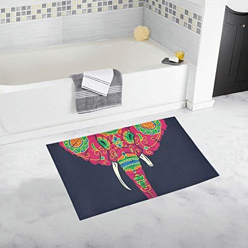 LMFshop Day Dead Bunte Sugar Elephant Head Benutzerdefinierte rutschfeste Badematte Teppich Bad Fußmatte Boden Teppich für Badezimmer 20 X 32 Zoll (Elephant Head Kostüm)