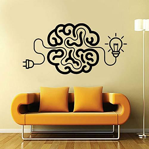 SLQUIET anpassbare aufladen das gehirn kunst aufkleber idee motivierend büro vinyl aufkleber mit lampendekoration wohnzimmer deco aufkleber orange 86x42cm