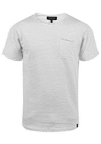 Indicode Albin Herren T-Shirt Kurzarm Shirt Mit Rundhalsausschnitt Aus 100% Baumwolle, Größe:L, Farbe:Grey Mix (914)