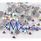 MajorCrafts 720pcs (5gross) 5mm ss20cristal azul AB Premium a + vidrio corte Hot-Fix brillantes cristales