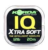 KordaIQ2 Fluorocarbon Hook Link Extra Soft 20m 20lb (0,47mm)