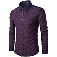 Toamen Camisa para Hombre Delgada del Ajuste De La Manera del OtoñO del  Hombre Imprimir Blusa 2fa6930a17b80